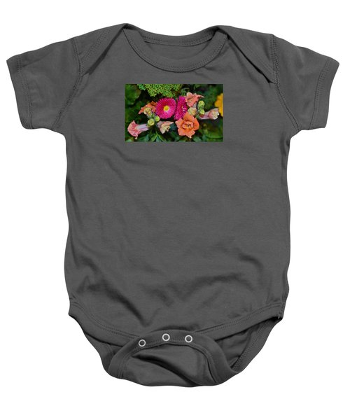 Spring Show 15 Snapdragons And English Daisy Baby Onesie