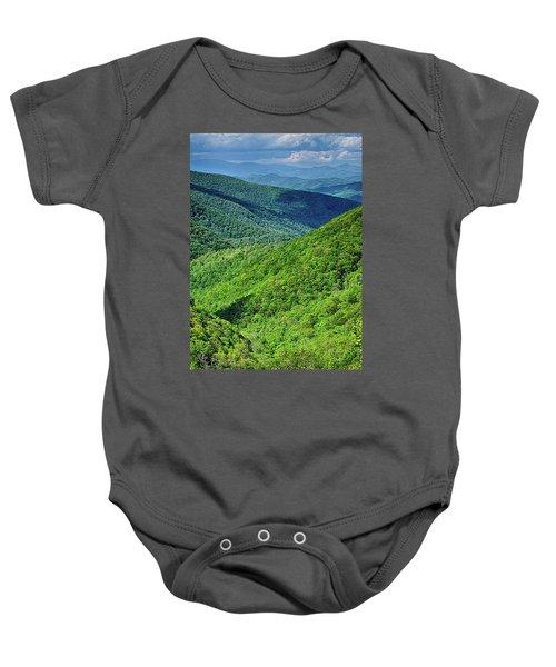 Springtime In The Blue Ridge Mountains Baby Onesie