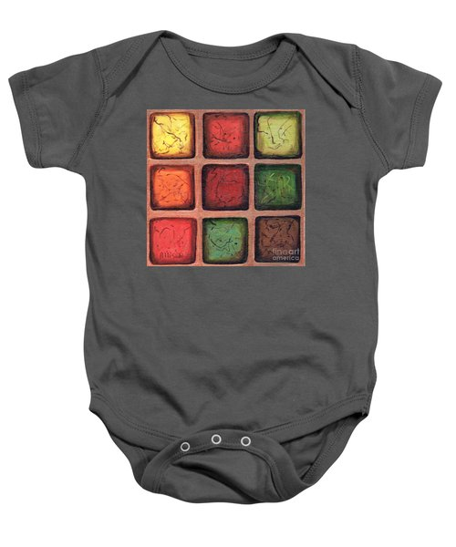 Squared In Bronze Baby Onesie