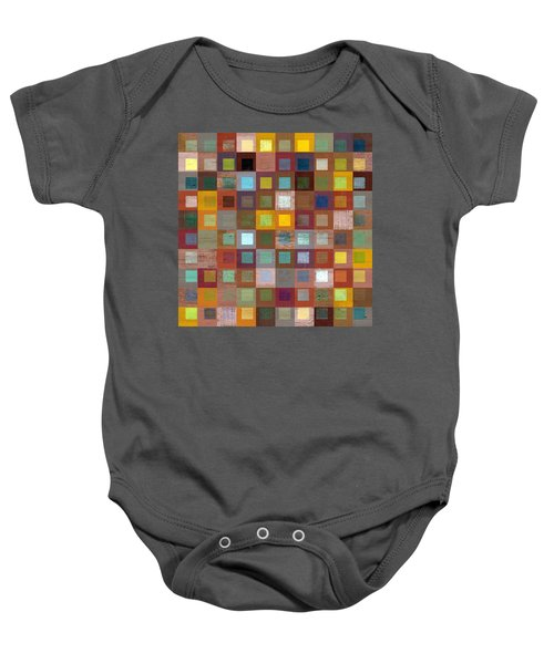 Baby Onesie featuring the digital art Squares In Squares Four by Michelle Calkins