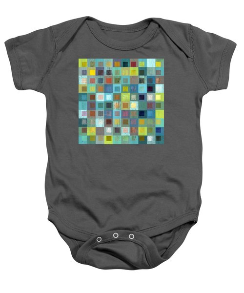 Baby Onesie featuring the digital art Squares In Squares Two by Michelle Calkins