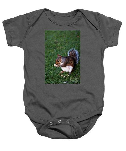 Squirrel Eating Baby Onesie