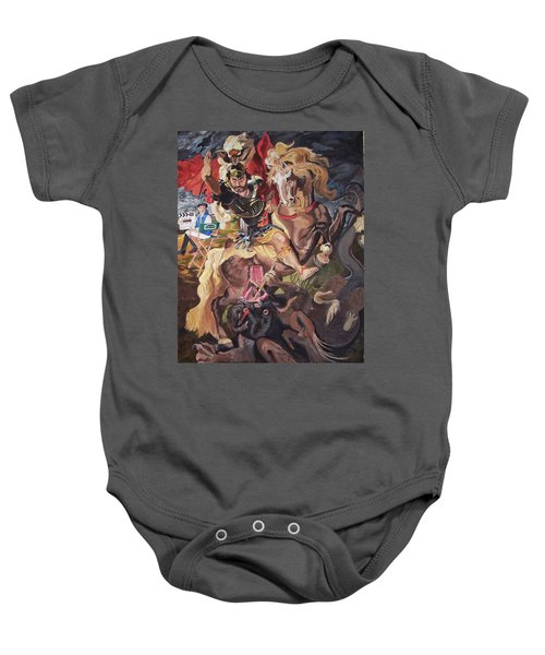St George And The Dragon Baby Onesie