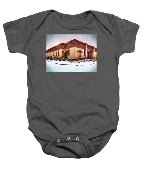 St. Isaac Jogues In The Snow Baby Onesie
