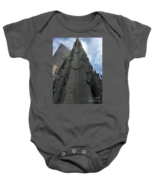St. Patricks Cathedral Perspective Baby Onesie