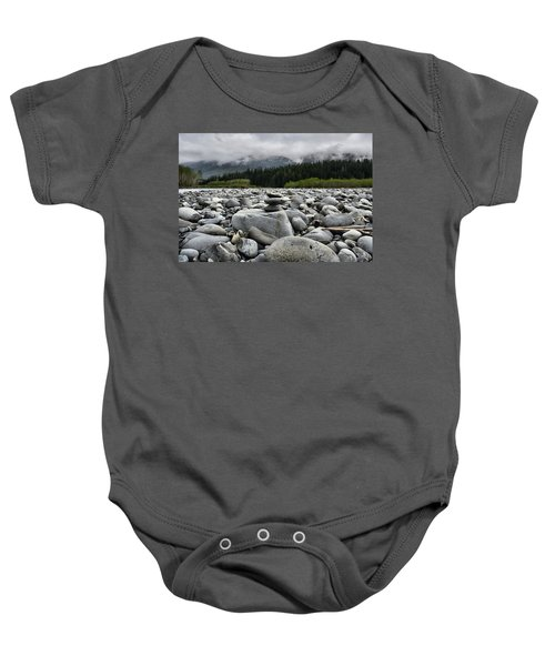 Stacked Rocks Baby Onesie