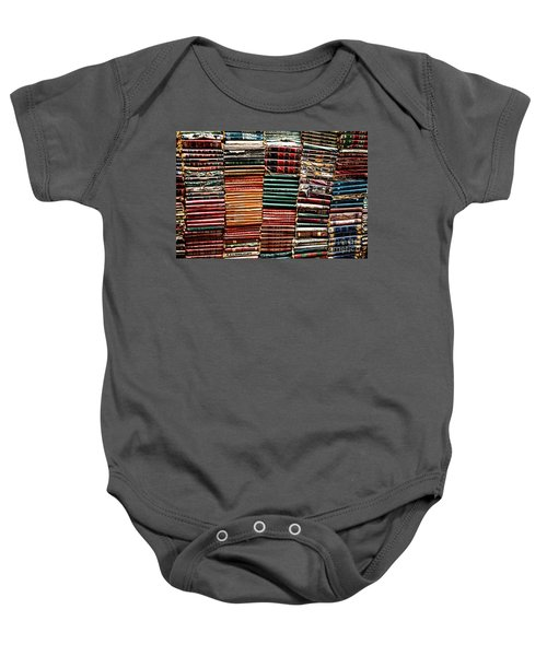 Stacks Of Books Baby Onesie