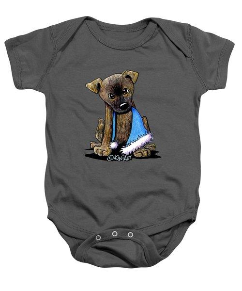 Staffordshire Bull Terrier Brindle Pup Baby Onesie