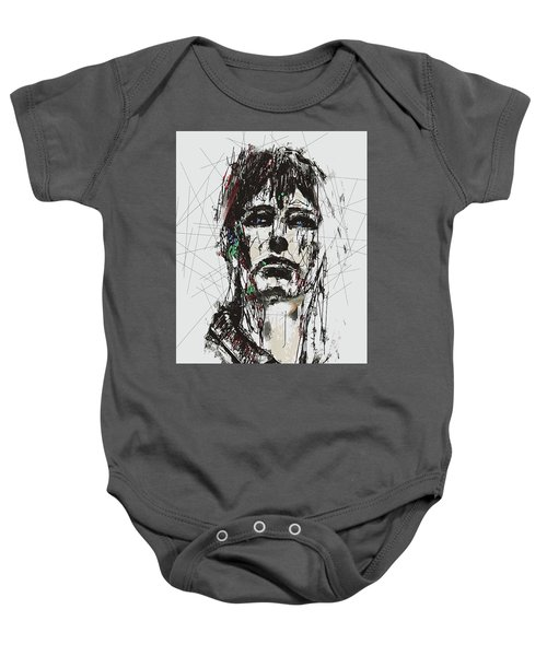 Staggered Abstract Portrait Baby Onesie