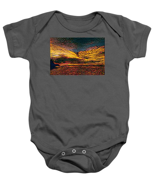 Stained Glass Sunset Baby Onesie