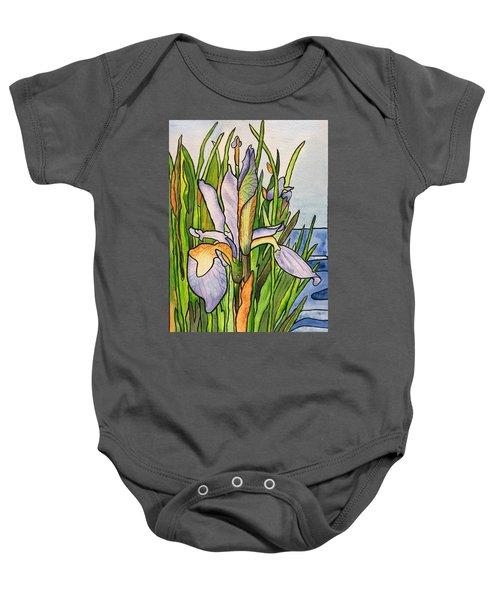Stained Iris Baby Onesie