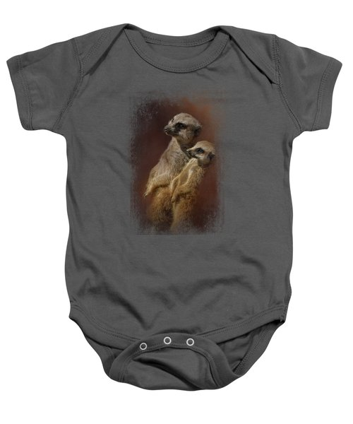 Standing At Attention Baby Onesie by Jai Johnson