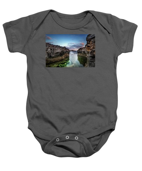 Standing At The Tip Of Sea Baby Onesie