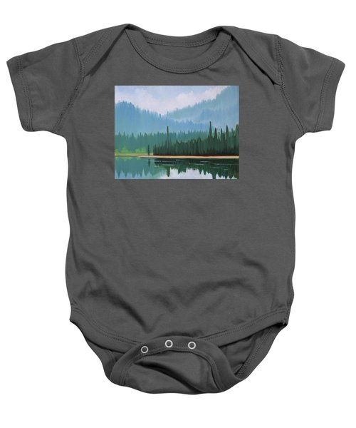 Stanley Lake - Far Shore Baby Onesie