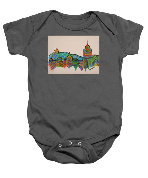 Baby Onesie featuring the painting Star City Play by Kendall Kessler