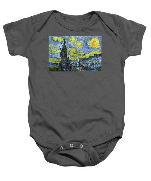 Starry, Starry Night Baby Onesie