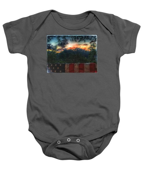 Stars Stripes And Skies Forever Baby Onesie