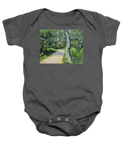 Start Of The Trail Baby Onesie