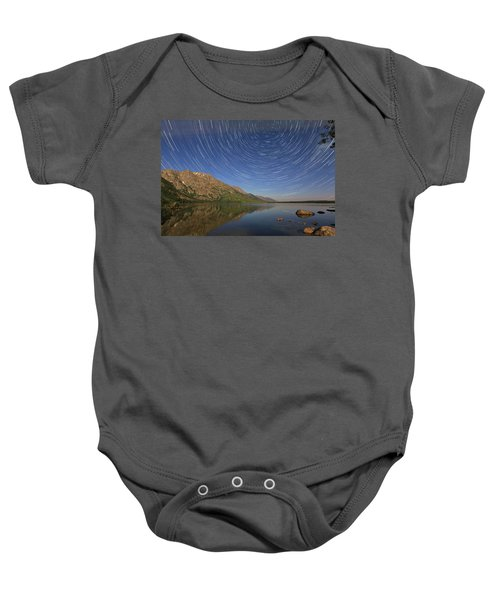 Startrails Over Jenny Lake Baby Onesie