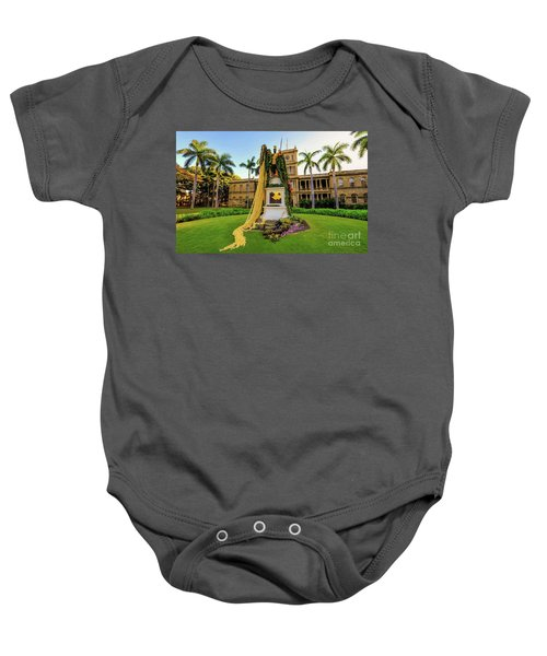 Statue Of, King Kamehameha The Great Baby Onesie