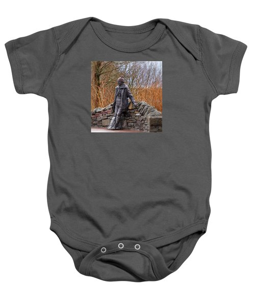 Statue Of Tom Weir Baby Onesie by Jeremy Lavender Photography