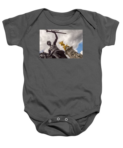 Statues In Front Of Buckingham Palace Baby Onesie