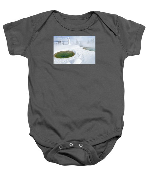 Steam And Snow Baby Onesie by Gary Lengyel