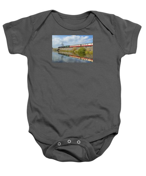 Steam Train Reflections Baby Onesie
