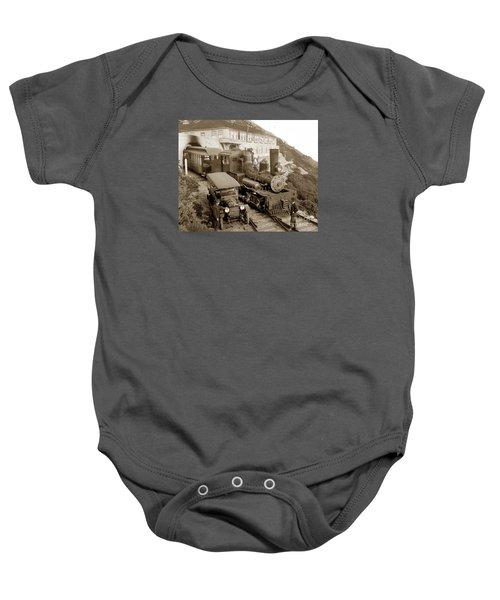 Stean Engine No. 8 Mount Tamalpais Circa 1920 Baby Onesie
