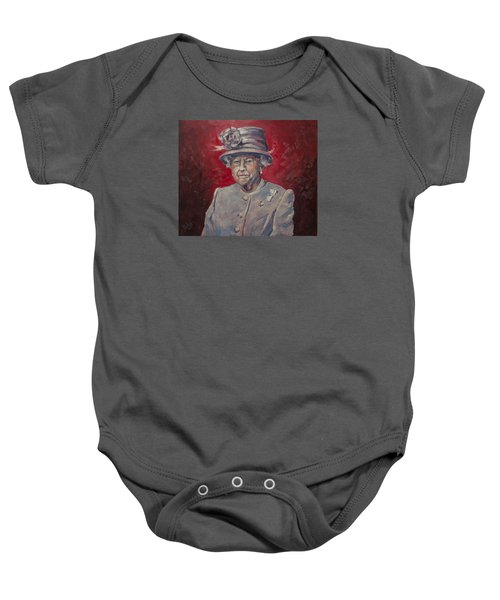 Stiff Your Upperlip And Carry On Baby Onesie by Nop Briex