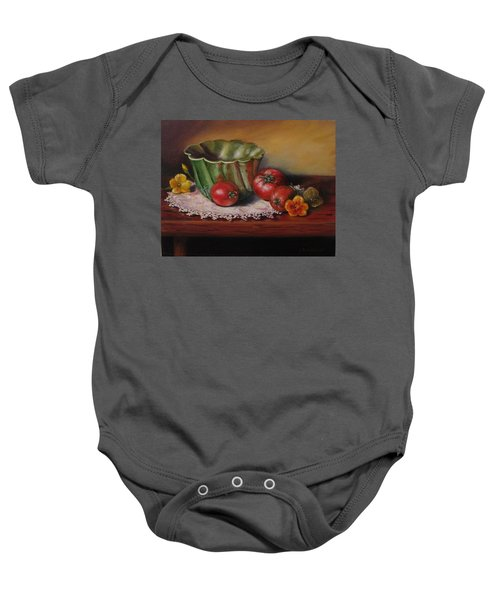 Still Life With Green Bowl Baby Onesie
