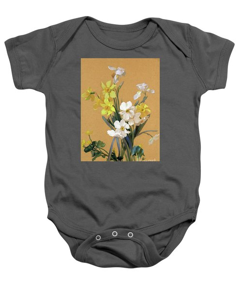 Still Life With Spring Flowers Baby Onesie