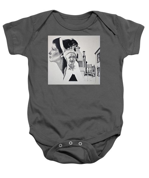 Stipple 2 --over The Hill Baby Onesie