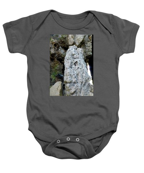 Baby Onesie featuring the photograph Stone Over Time by Francesca Mackenney