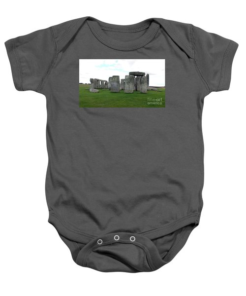 Baby Onesie featuring the photograph Stonehenge 1 by Francesca Mackenney