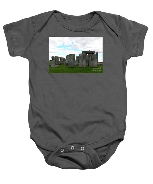 Baby Onesie featuring the photograph Stonehenge 2 by Francesca Mackenney