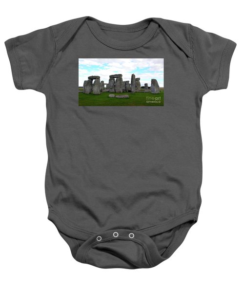 Baby Onesie featuring the photograph Stonehenge 3 by Francesca Mackenney