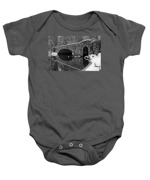 Baby Onesie featuring the photograph Stoneman Bridge by Vincent Bonafede