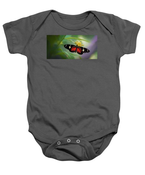 Butterfly, Stop And Smell The Flowers Baby Onesie
