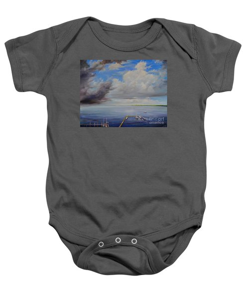 Storm On The Indian River Baby Onesie