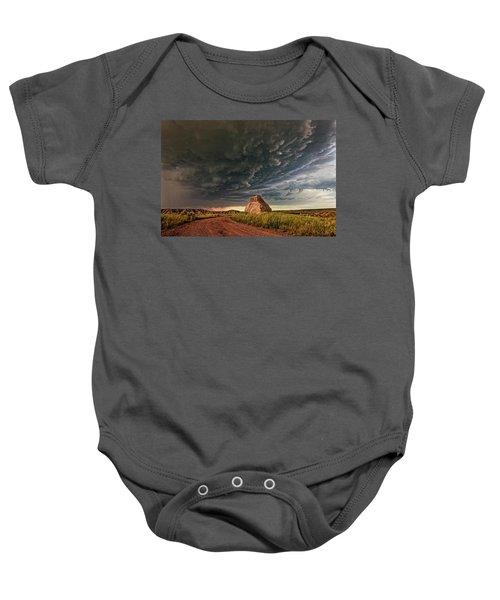 Storm Over Dinosaur Baby Onesie