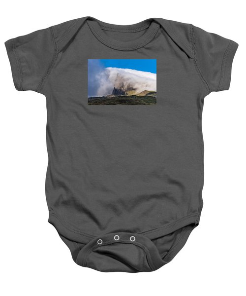 Baby Onesie featuring the photograph Storr In Cloud by Gary Eason