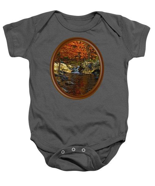Stream In Autumn 58 Baby Onesie