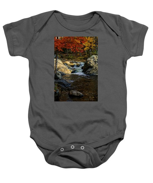 Stream In Autumn No.17 Baby Onesie