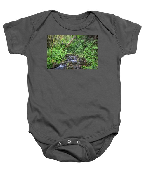 Stream In The Rainforest Baby Onesie