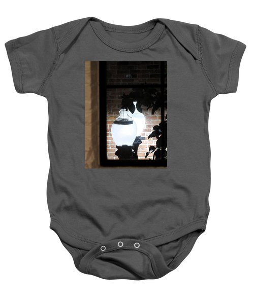 Street Light Through Window Baby Onesie