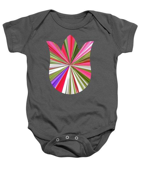 Striped Tulip Baby Onesie