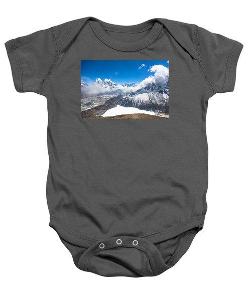 Stunning Panorama Over Gokyo In Nepal Baby Onesie