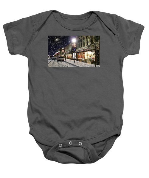 Sturgeon Bay On A Magical Night Baby Onesie