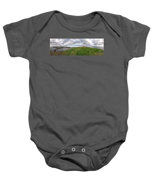 Stykkisholmur Harbor Pano Baby Onesie